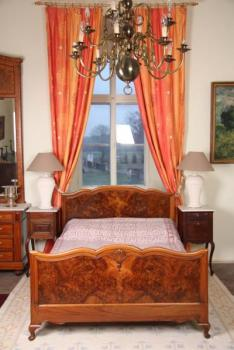 Double Bed - solid wood, walnut burr - 1920